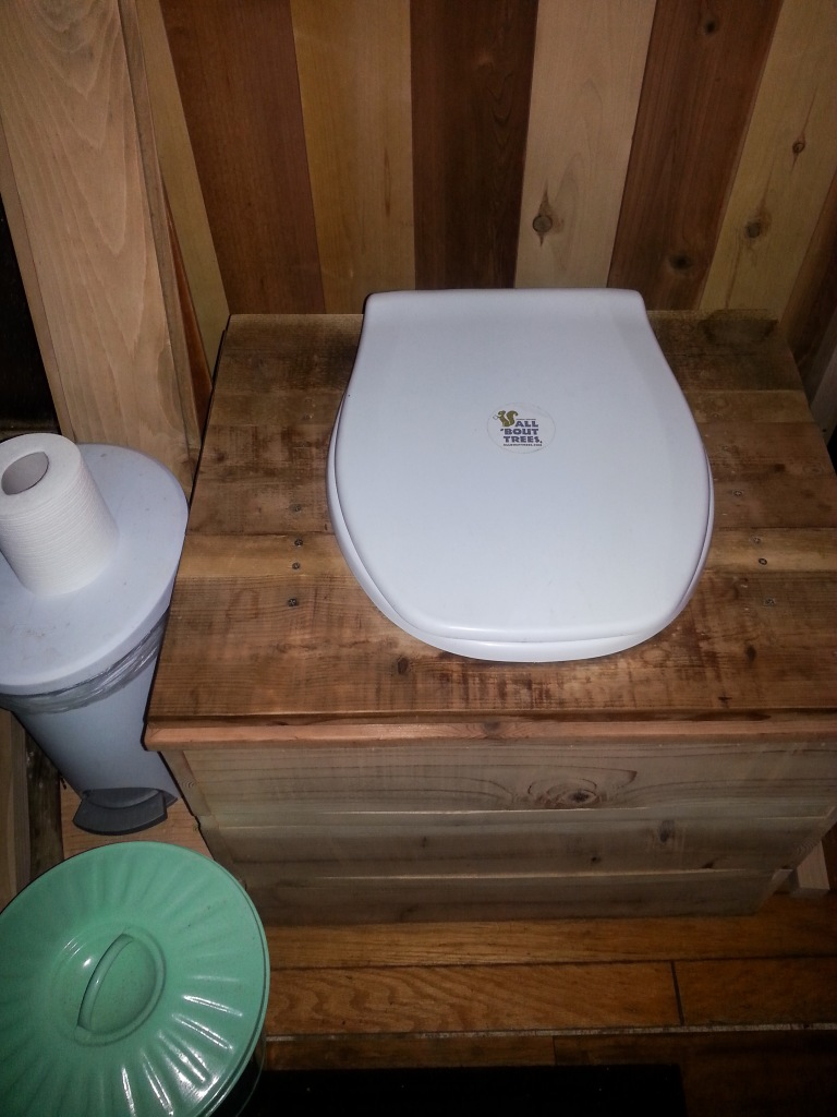 Refreshed by the sander, the compost toilet is ready for more service