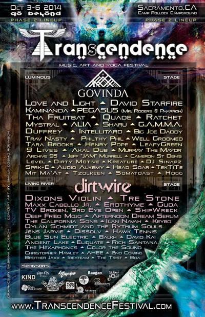 Transcendance Festival Music Line Up ~ Go Beyond!