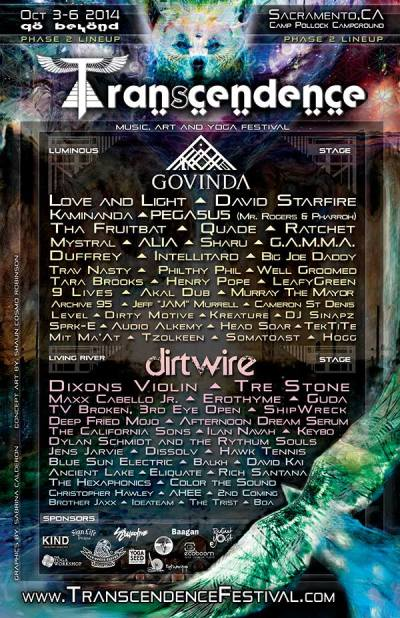 Transcendance Festival Music Line Up ~ Go Beyond!