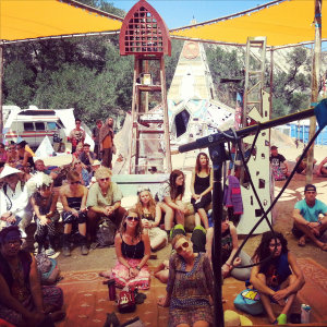 "Our Lovely audience at the ""Life in a Nutshell"" discussion during Lucidity Festival Kindred Quest 2015"